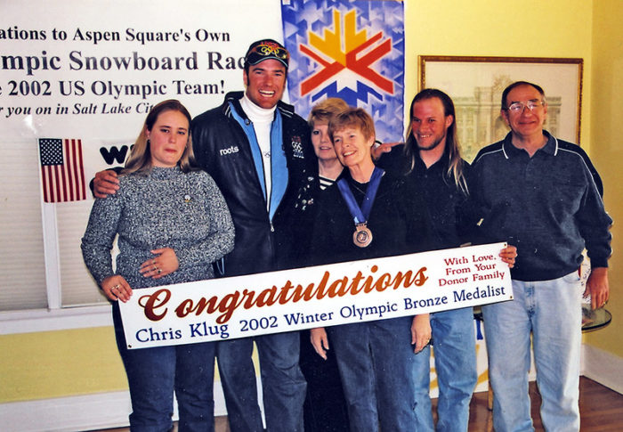 Chris klugs donor family 2002